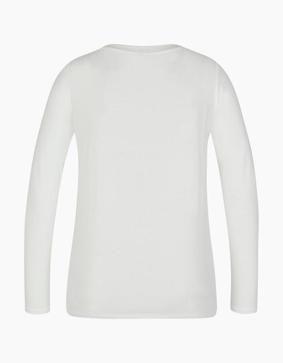 Steilmann Woman Shirt im Material-Mix mit Statement-Druck | [ADLER Mode]