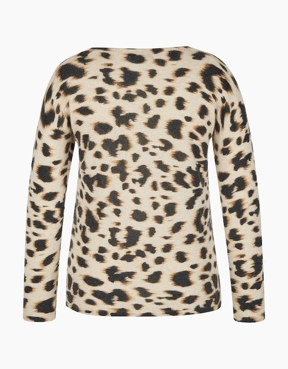 Bexleys woman Cashmere-Pullover im modischen Leoprint | [ADLER Mode]