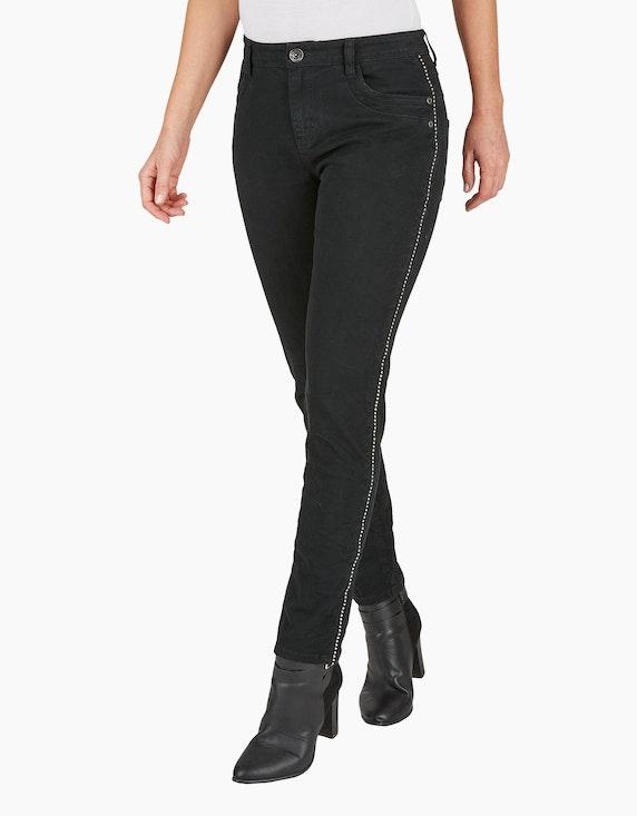 MY OWN Hose mit Galonstreifen aus Ziernieten | [ADLER Mode]