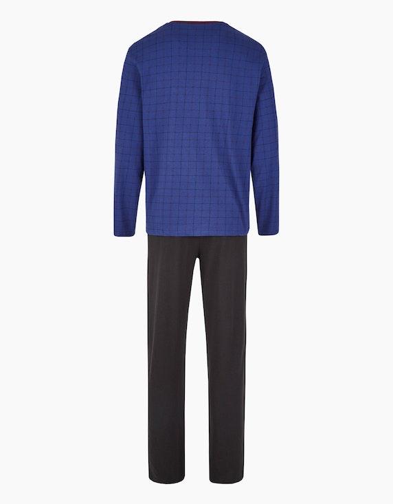 Bexleys man Langer Pyjama mit V-Ausschnitt | [ADLER Mode]
