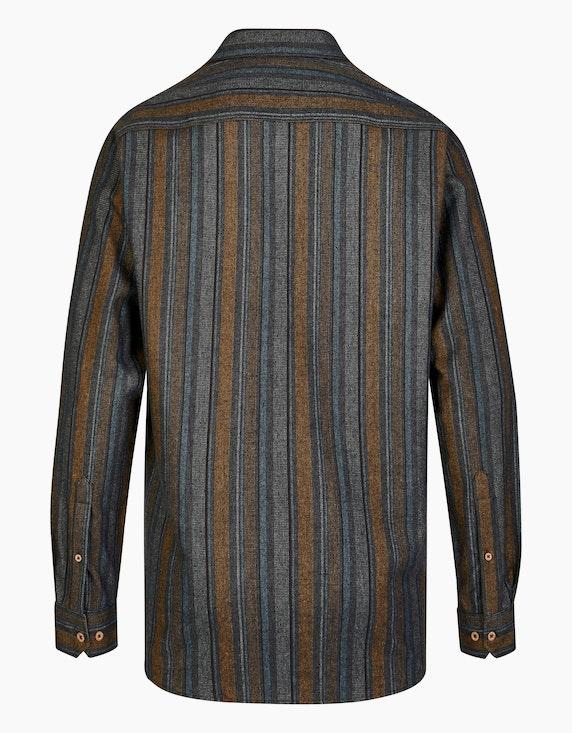 Bexleys man Flanellhemd im Streifen-Dessin, REGULAR FIT | [ADLER Mode]