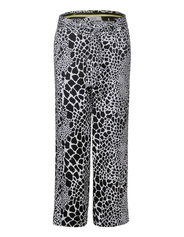 Hosen - Wide Leg Hose mit Animal Print, 31 24  - Onlineshop Adler