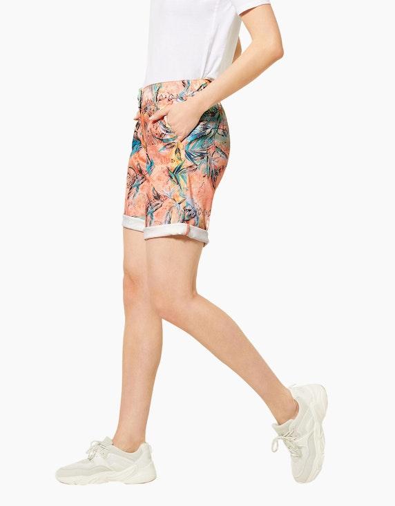 CECIL Paperbag-Shorts mit floralem Muster | [ADLER Mode]