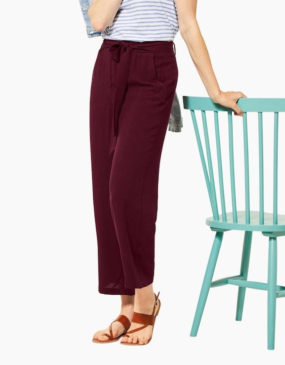 CECIL Culotte-Hose mit Bindegürtel, reine Viskose | [ADLER Mode]