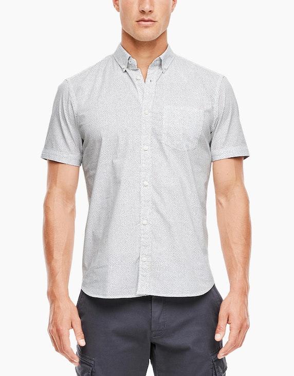 s.Oliver Chambray-Hemd mit kurzen Ärmeln | [ADLER Mode]