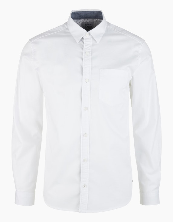 s.Oliver Twill-Hemd mit langen Ärmeln | [ADLER Mode]