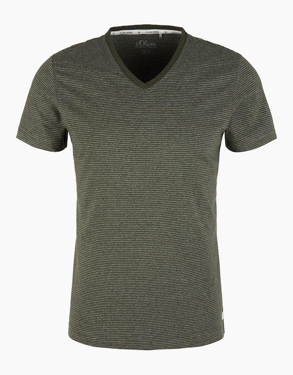 s.Oliver Jerseyshirt mit Streifen | [ADLER Mode]