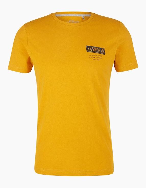 s.Oliver T-Shirt mit Gummi-Print | [ADLER Mode]