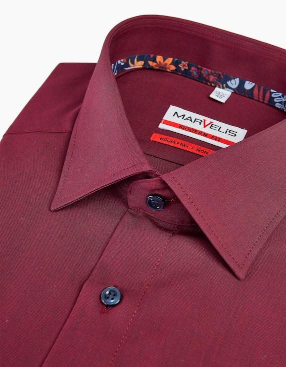 Marvelis Dresshemd in Langarm mit Details, MODERN FIT | [ADLER Mode]