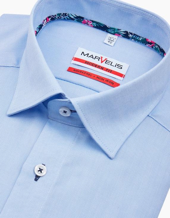 Marvelis Dresshemd, kurzarm, uni, MODERN FIT | [ADLER Mode]
