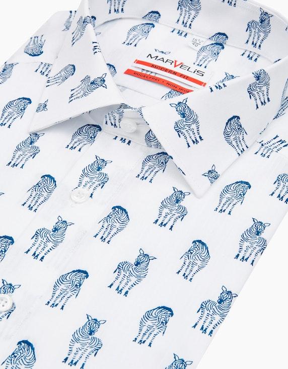 Marvelis Dresshemd, kurzarm, bedruckt, MODERN FIT | [ADLER Mode]