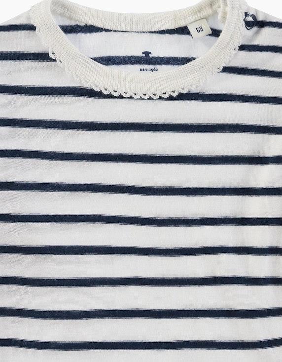 Tom Tailor Baby Girls Shirt mit Streifen und Volant | [ADLER Mode]