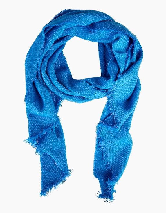 Viventy Schimmernder Schal mit Fransen in Blau   [ADLER Mode]