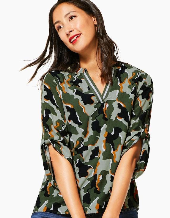Street One Schlupfbluse mit Camouflage-Muster   [ADLER Mode]