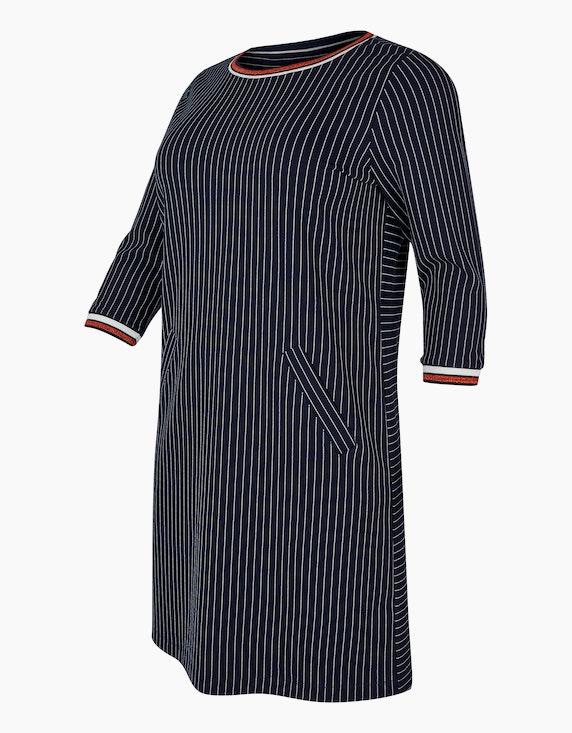 VIA APPIA DUE Kleid mit Kreidestreifen | [ADLER Mode]