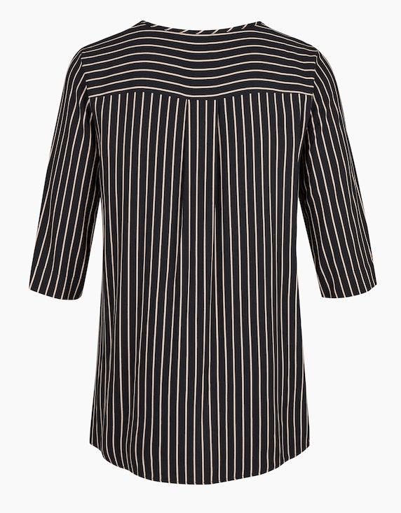 VIA APPIA DUE Gestreifte Bluse mit zwei aufgesetzten Taschen | [ADLER Mode]