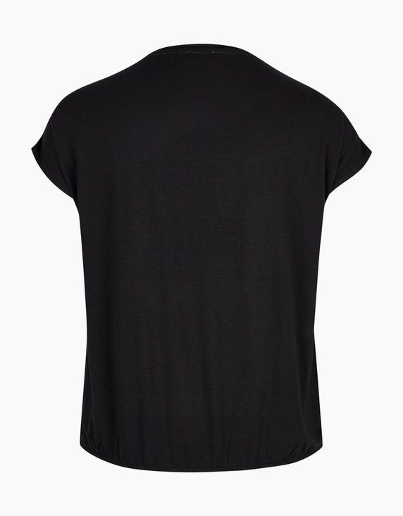 VIA APPIA DUE Shirtbluse mit glitzerndem Druck und überschnittener Schulter   [ADLER Mode]