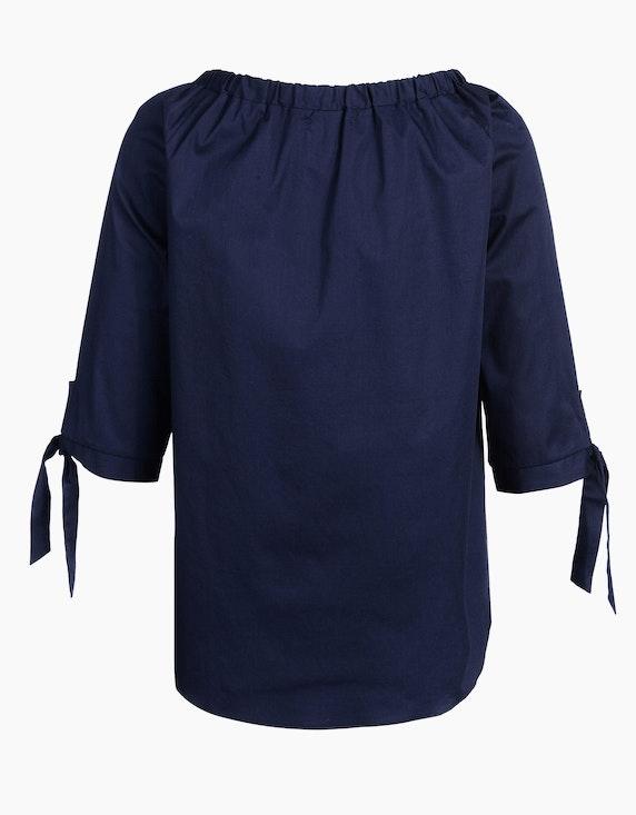MY OWN unifarbene Tunika-Bluse mit Perlenbesatz   [ADLER Mode]