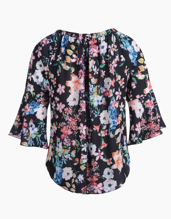 MY OWN Tunika-Bluse mit Carmenausschnitt und Blumendruck   [ADLER Mode]