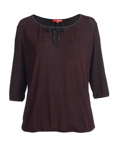 Produktbild zu festliches Shirt mit kleinem Zackenmuster in Glitzerfaden von Thea
