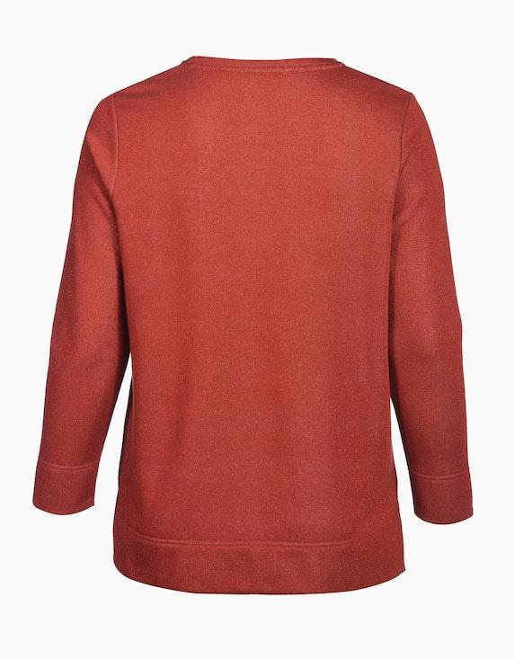 Thea Sweatshirt mit V-Ausschnitt in Melange-Optik   [ADLER Mode]