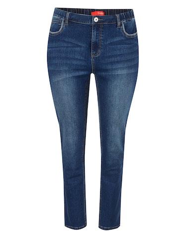 Hosen - 5 Pocket Jeans mit Kontrast Piping an Taschen, 58  - Onlineshop Adler