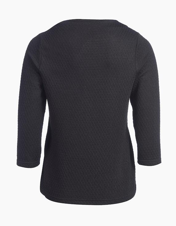 Viventy Jacquard-Shirt mit Waffelstruktur und Kaminkragen, Boxy-Style   [ADLER Mode]