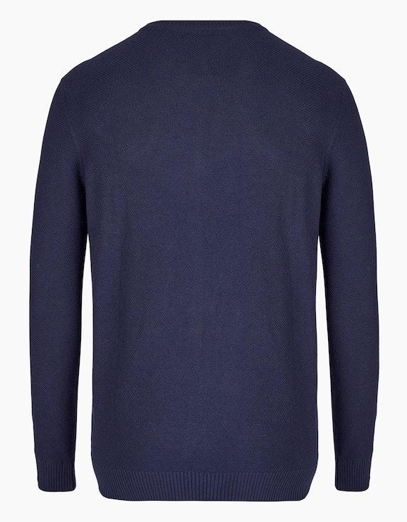 Bexleys man Unifarbener Pullover mit Struktur | [ADLER Mode]