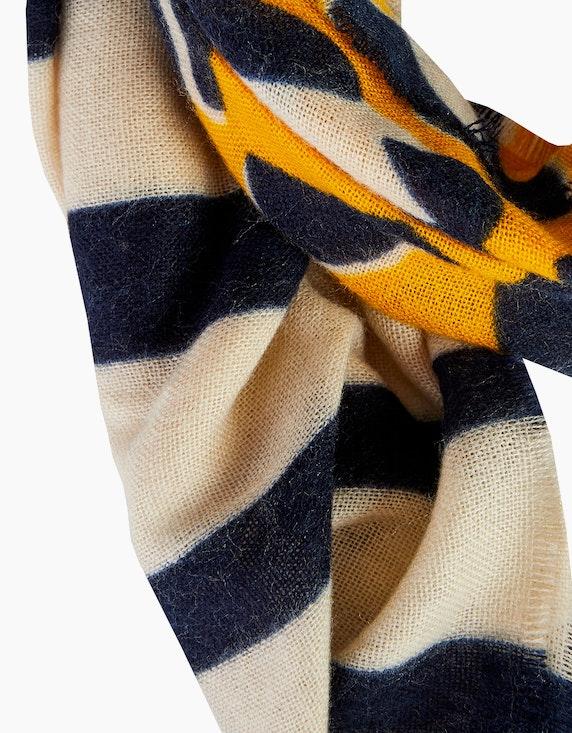 Bexleys woman Schal  mit Streifen und Leoprint | [ADLER Mode]