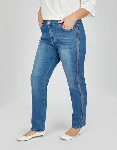 Hosen - Jeans mit Galonstreifen, 5 Pocket, 60  - Onlineshop Adler