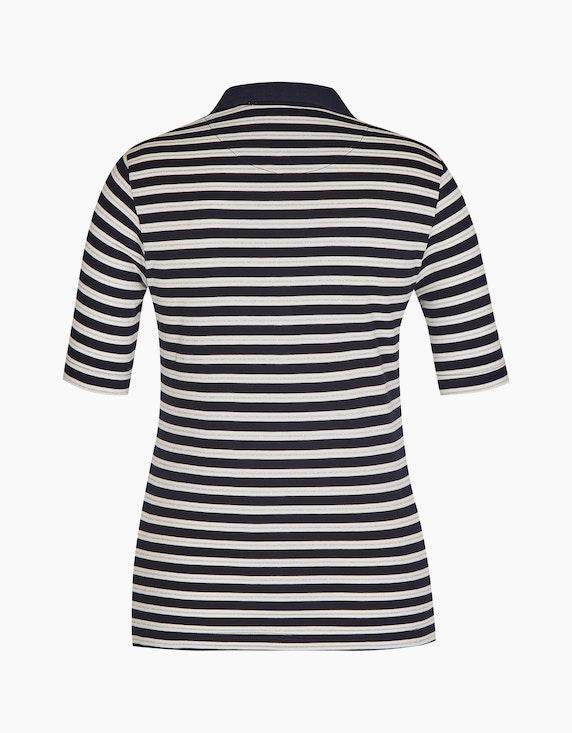 Bexleys woman gestreiftes Poloshirt aus Pima Cotton | [ADLER Mode]