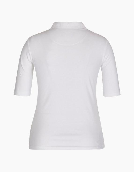 Bexleys woman einfarbiges Poloshirt aus Pima Cotton | [ADLER Mode]