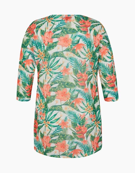 Bexleys woman Strickjacke in floralem Design   [ADLER Mode]