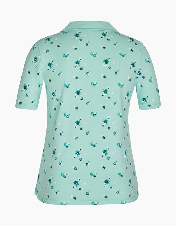Bexleys woman Floral bedrucktes T-Shirt mit Polo-Kragen   [ADLER Mode]