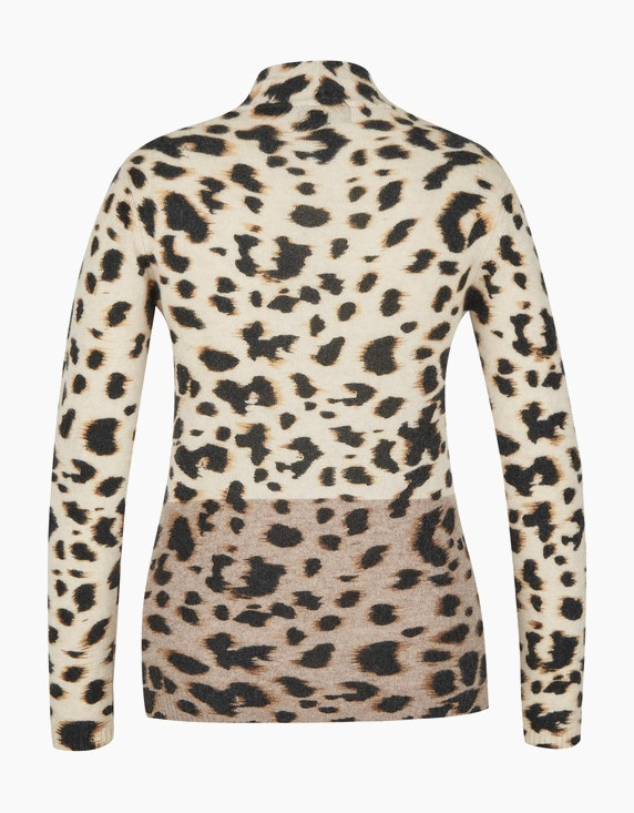 Bexleys woman Cashmere Strickjacke im Leoprint | [ADLER Mode]