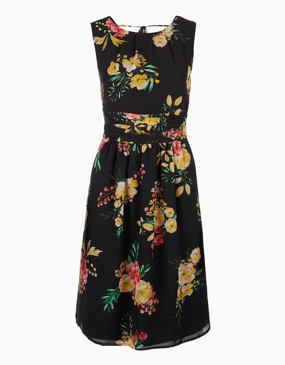 s.Oliver Chiffon-Kleid mit floralem Druck | [ADLER Mode]