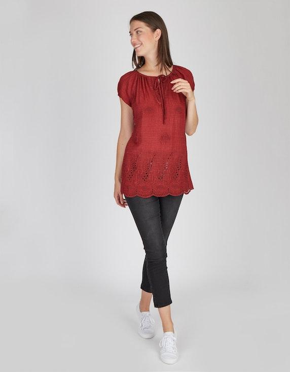 MY OWN Raglan-Bluse mit Stickerei, reine Baumwolle | [ADLER Mode]