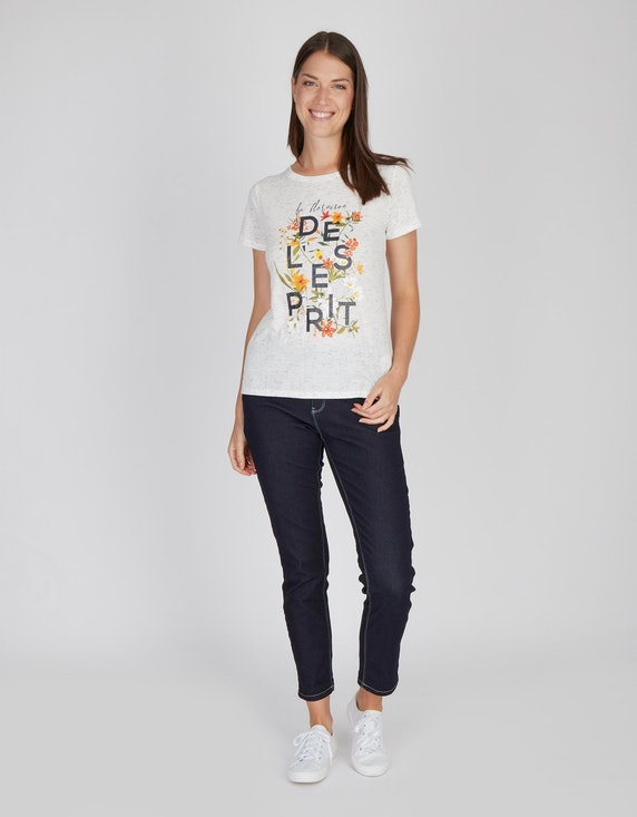 MY OWN Shirt mit Frontprint in Melange-Optik   [ADLER Mode]