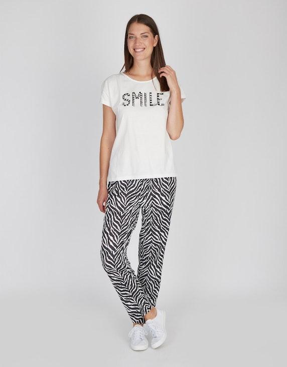 MY OWN Shirt mit Fransen-Letter-Stickerei, reine Baumwolle   [ADLER Mode]