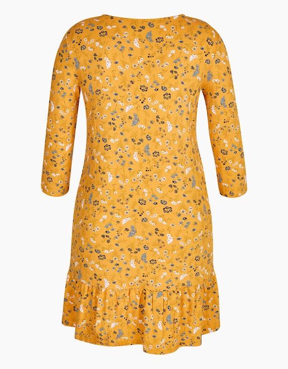 MY OWN Kleid mit Blümchendruck und Schößchensaum | [ADLER Mode]