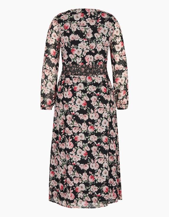 MY OWN Chiffon-Kleid mit Rosendruck | [ADLER Mode]