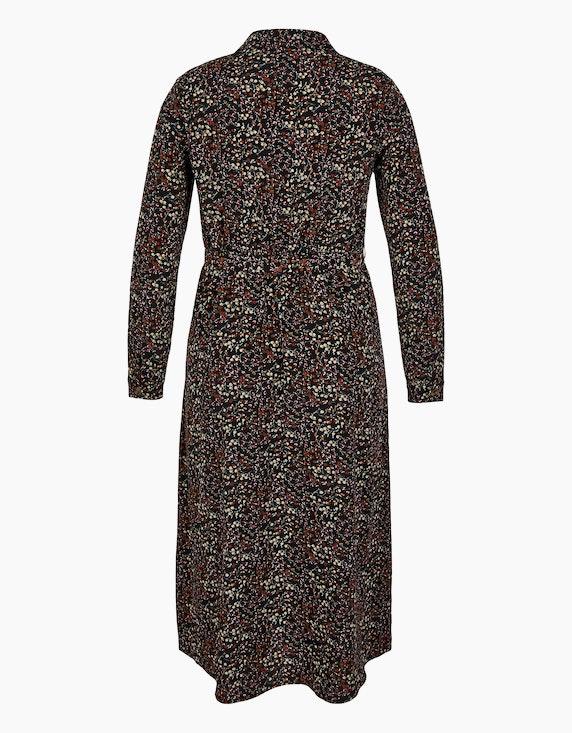 MY OWN Hemdblusen-Kleid aus Polyester-Crepe mit Allover-Print | [ADLER Mode]