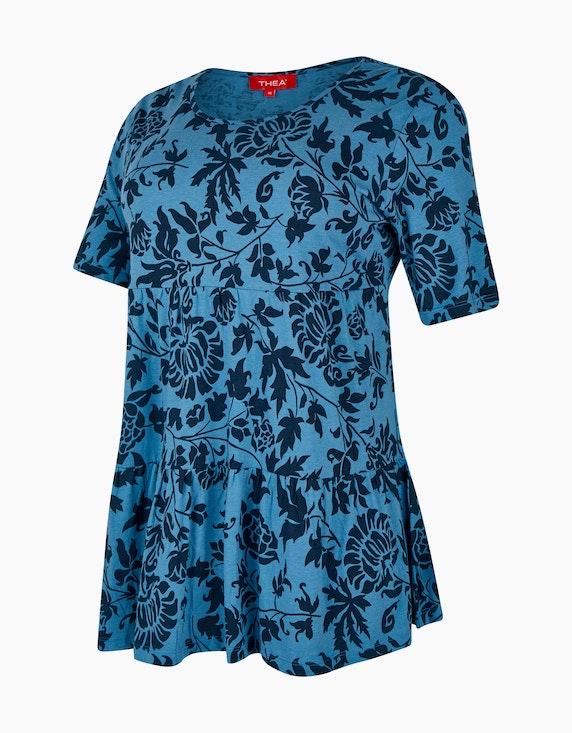 Thea Tunika-Shirt mit Volant und Allover-Print   [ADLER Mode]