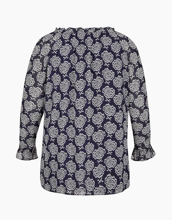 Thea Shirt mit Allover-Print und gerüschtem Ausschnitt | [ADLER Mode]