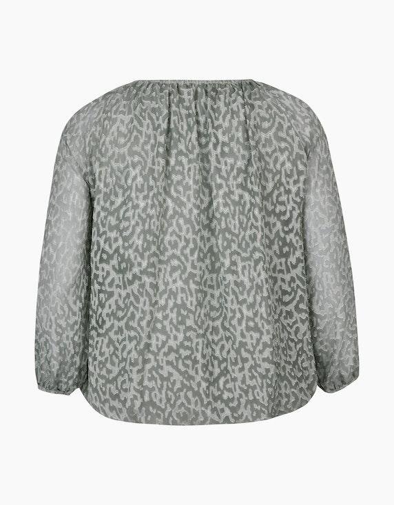 Thea Gemusterte Chiffon-Bluse mit figurschmeichelnder Silhoutte | [ADLER Mode]
