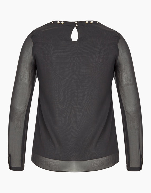 Viventy Chiffon-Bluse mit Perlenausschnitt | [ADLER Mode]