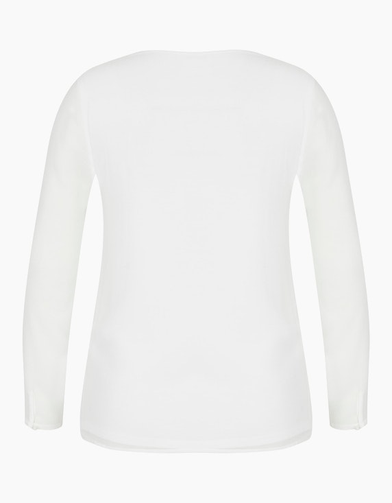 Viventy Shirtbluse mit V-Ausschnitt in Häkelspitze | [ADLER Mode]