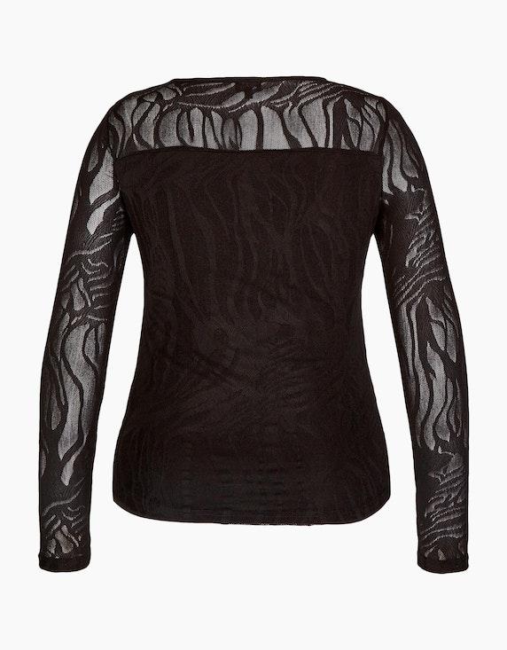 Viventy Spitzenshirt mit transparenten Ärmeln   [ADLER Mode]