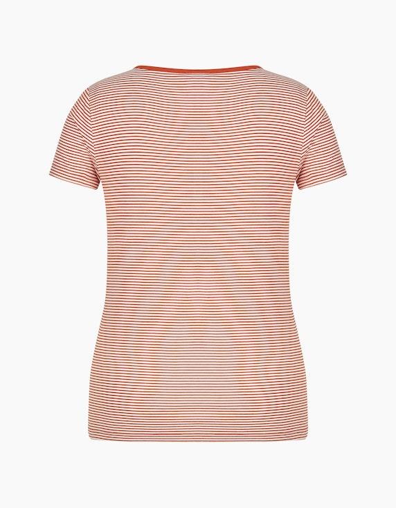 Via Cortesa Streifen-Shirt mit Knopfleiste, Baumwoll-Stretch   [ADLER Mode]