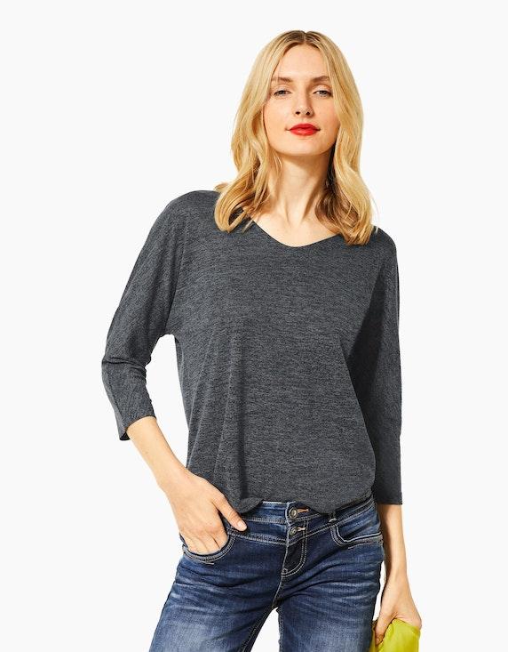 Street One Shirt mit überschnittenen Schultern und 3/4-Ärmeln   [ADLER Mode]
